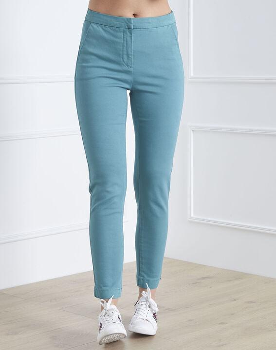 Pantalon vert slim chino Calici (1) - Maison 123