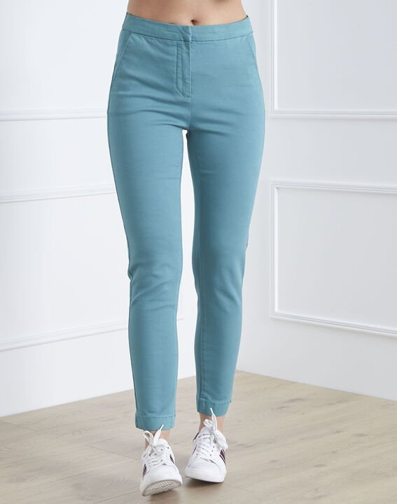 Pantalon vert slim chino Calici PhotoZ | 1-2-3