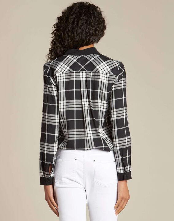 Dominique black and white check shirt (4) - 1-2-3