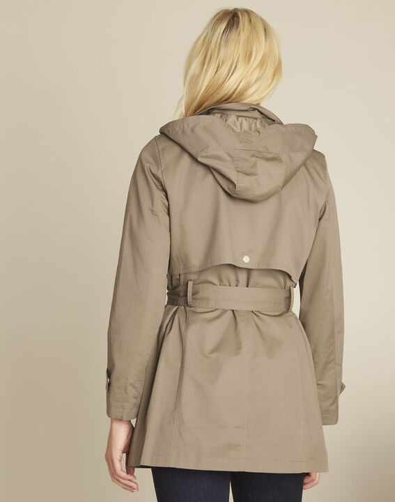 Ella khaki cotton trenchcoat (4) - Maison 123