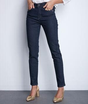 Denimblauwe slim-fit jeans van katoen Paola