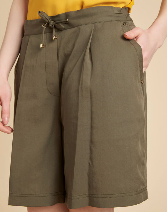 Janel khaki shorts with tie belt PhotoZ | 1-2-3