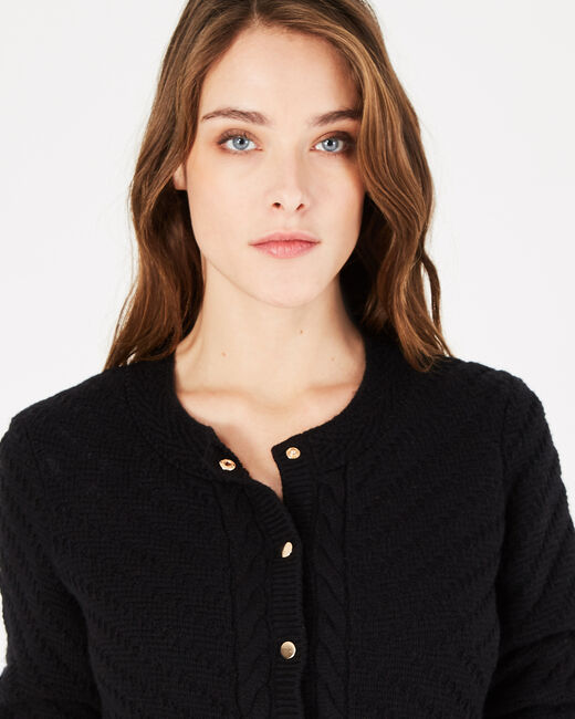 Piccolo black cardigan with golden buttons (2) - 1-2-3
