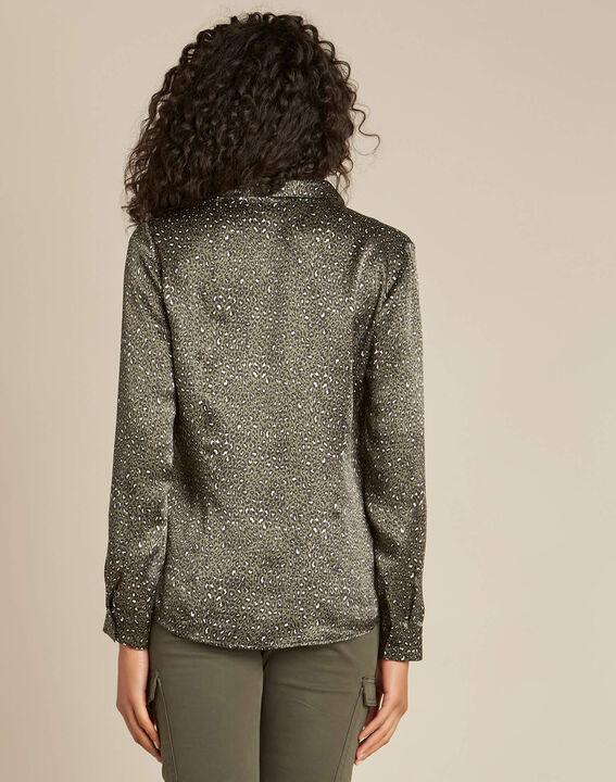 Ravel khaki silk shirt with leopard print (4) - 1-2-3