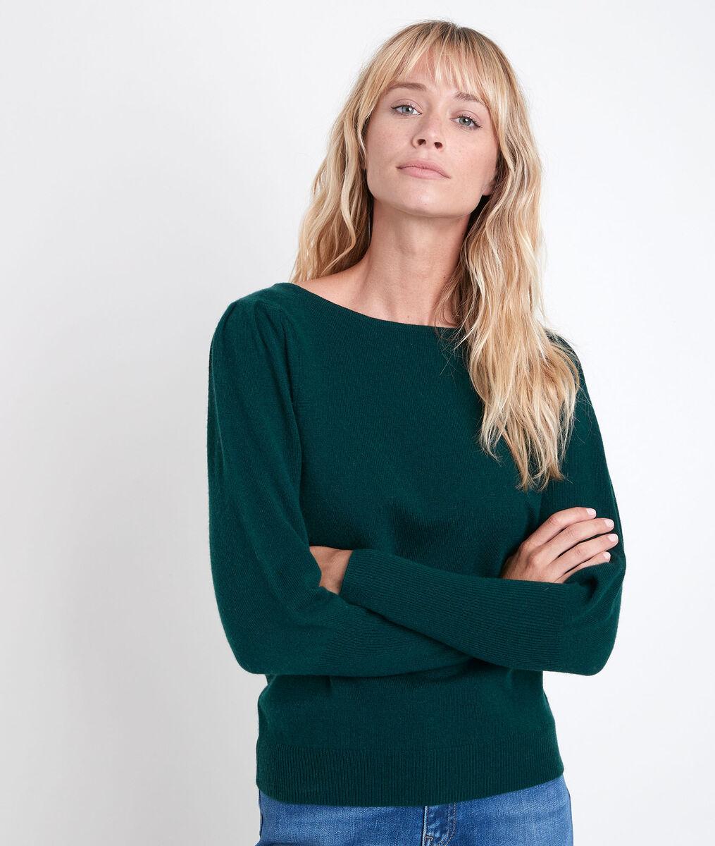 Pull en laine et cachemire émeraude Ribambelle PhotoZ   1-2-3