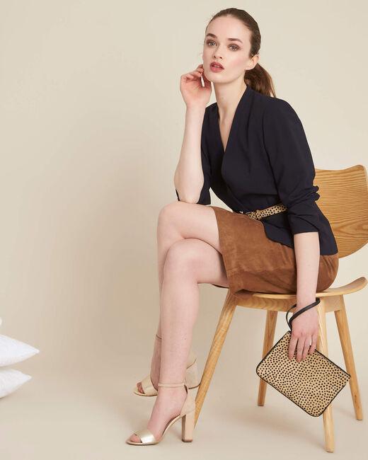 Lissandro camel leather skirt (1) - 1-2-3