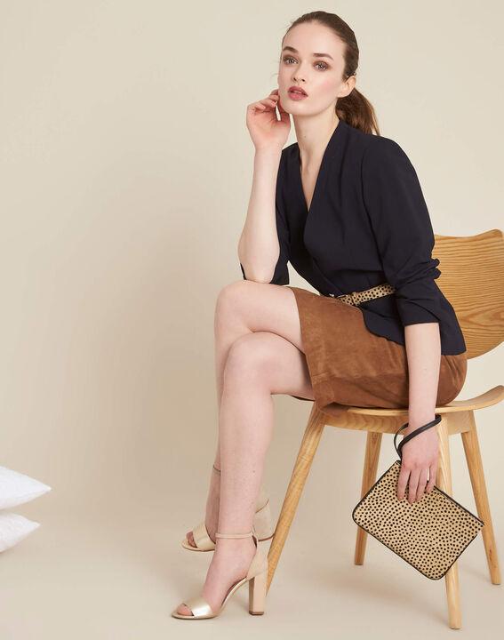Lissandro camel leather skirt (2) - 1-2-3