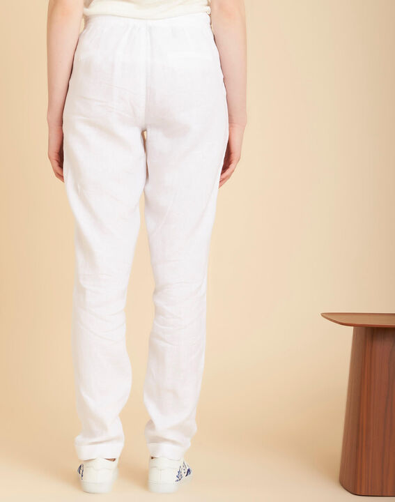 Joris white linen trousers (4) - 1-2-3