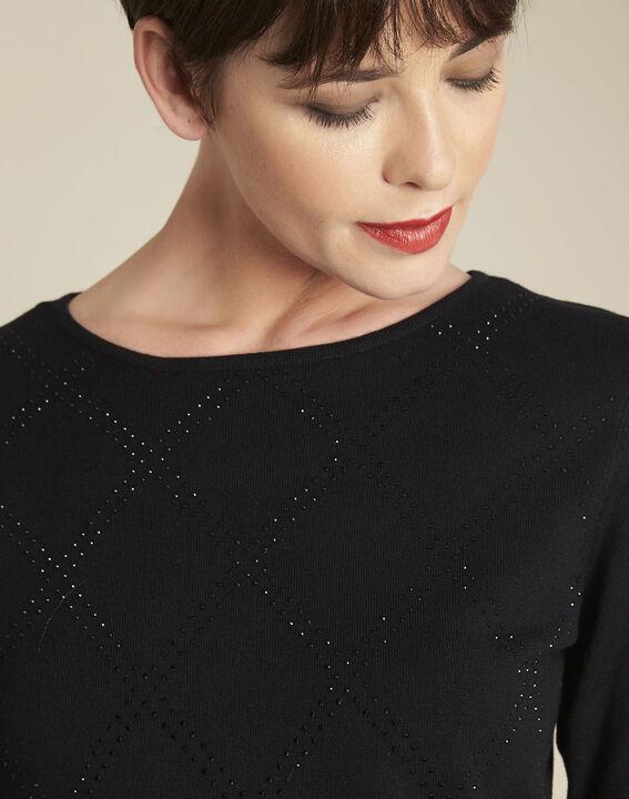 Brio black rhinestone pullover (3) - 1-2-3