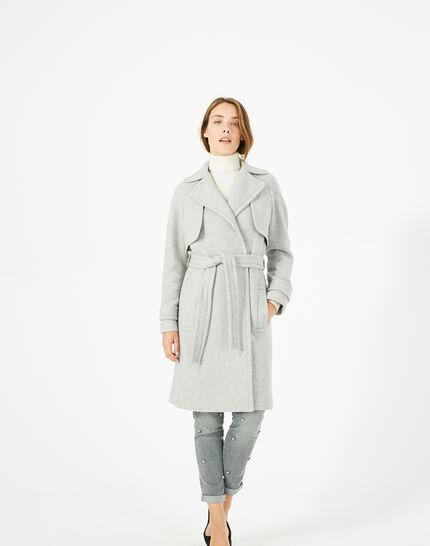 Manteau gris long façon trench Joy (1) - 1-2-3