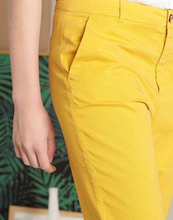 Pantalon jaune chino à revers Victoria (4) - 1-2-3