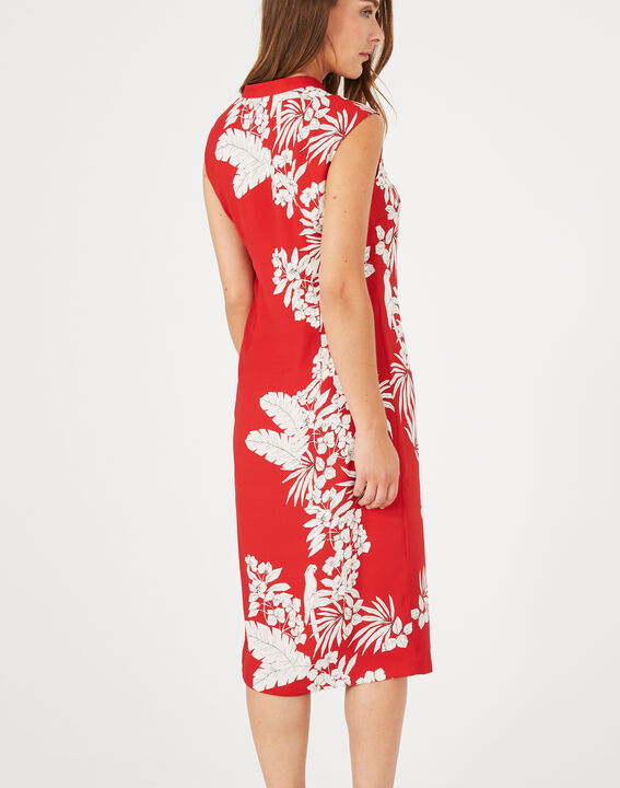Robe rouge imprimée Asmar (4) - 1-2-3