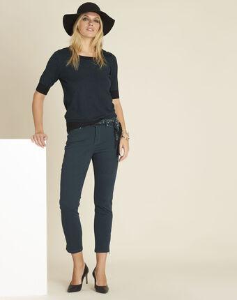 Smaragdgrüne slim-fit 7/8 jeans mit reißverschlüssen opéra smaragdgrün.