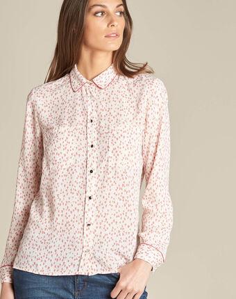 Davies pale pink printed shirt light pink.