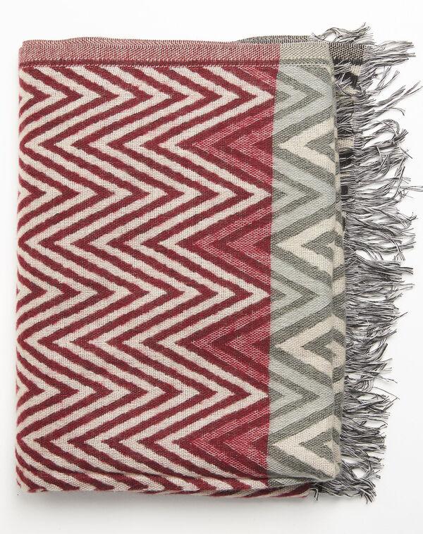 Roter Schal mit grafischem Druckmuster Figara (2) - 1-2-3