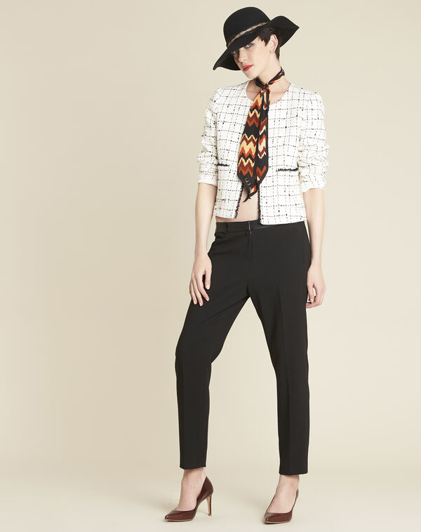 Charme ecru checked jacket (1) - 1-2-3
