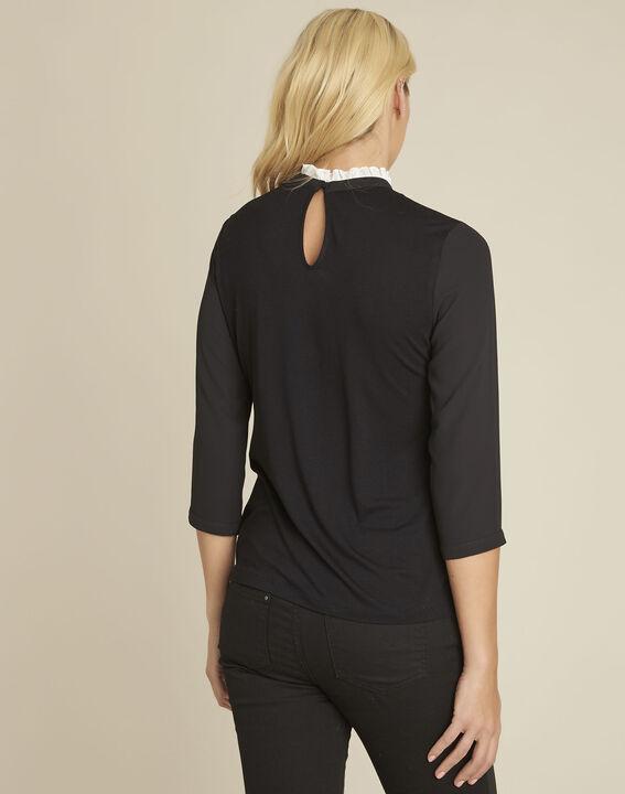 Zwarte trui met kanten halslijn Cunegonde (4) - 37653