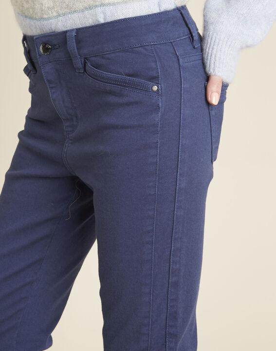 Kobaltblauwe slim fit jeans met ritsen Opera (3) - 37653