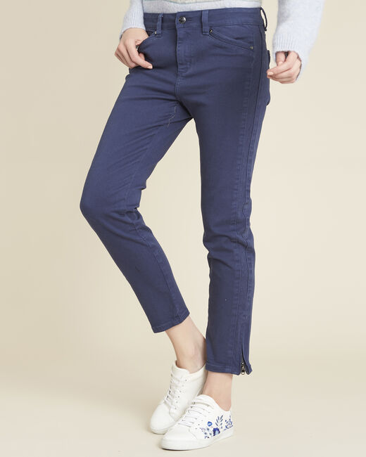 Opéra slim-cut cobalt blue jeans with zip detailing (1) - 1-2-3
