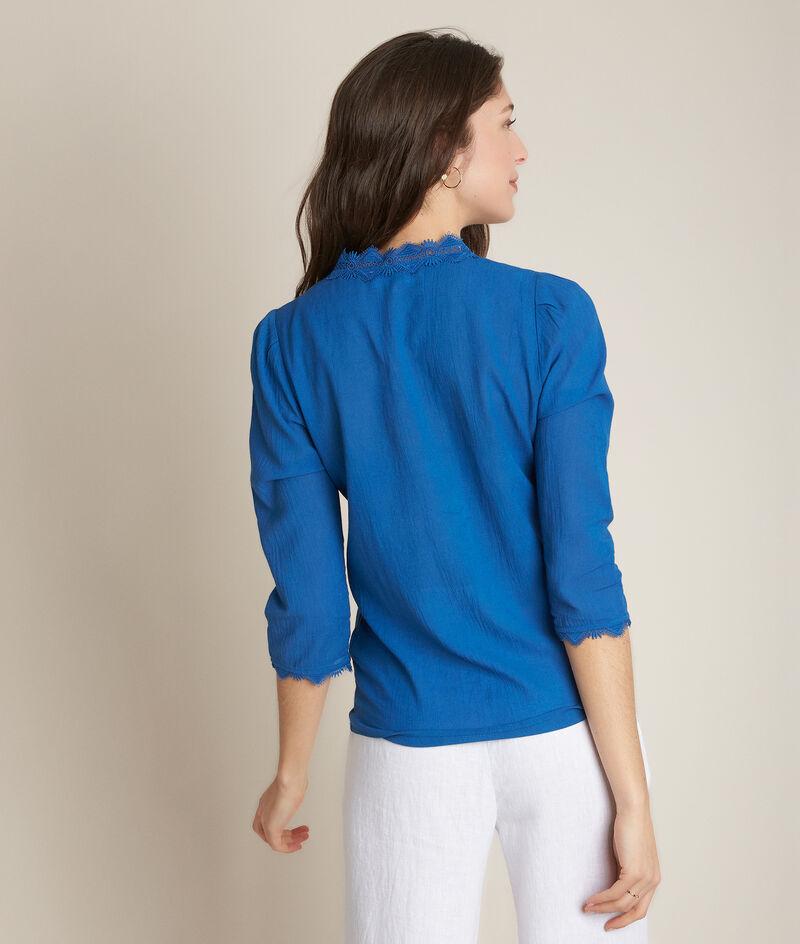 Blouse brodée bleue Eloise PhotoZ | 1-2-3