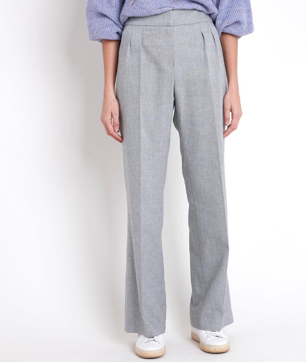 Pantalon large gris chiné Galaxy PhotoZ | 1-2-3