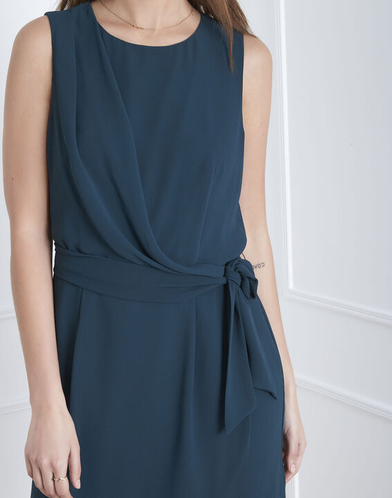 Drapiertes, dunkelgrünes Kleid Harpe (3) - Maison 123