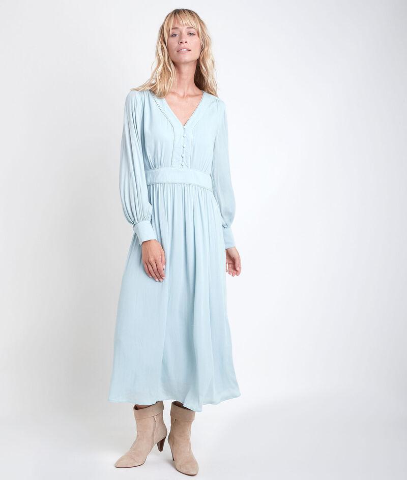 Celadon lange jurk Nathalie PhotoZ | 1-2-3