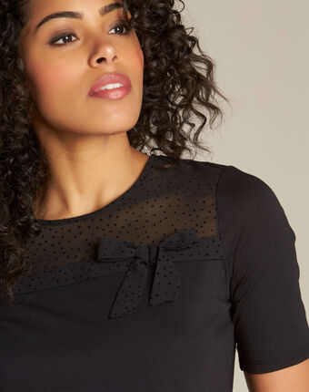 T-shirt noir à noeud elouisa noir.