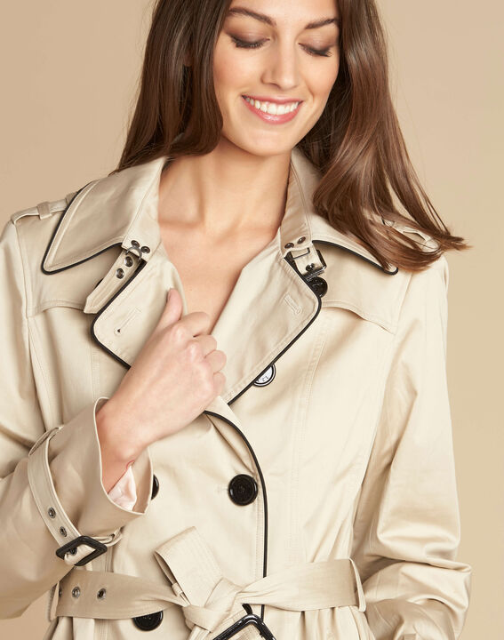 Kate beige braided trench coat PhotoZ | 1-2-3