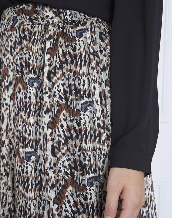 Jupe noire longue imprimée Safary (3) - Maison 123