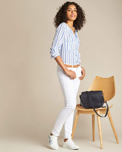 Vendôme white 7/8 length jeans (2) - 1-2-3
