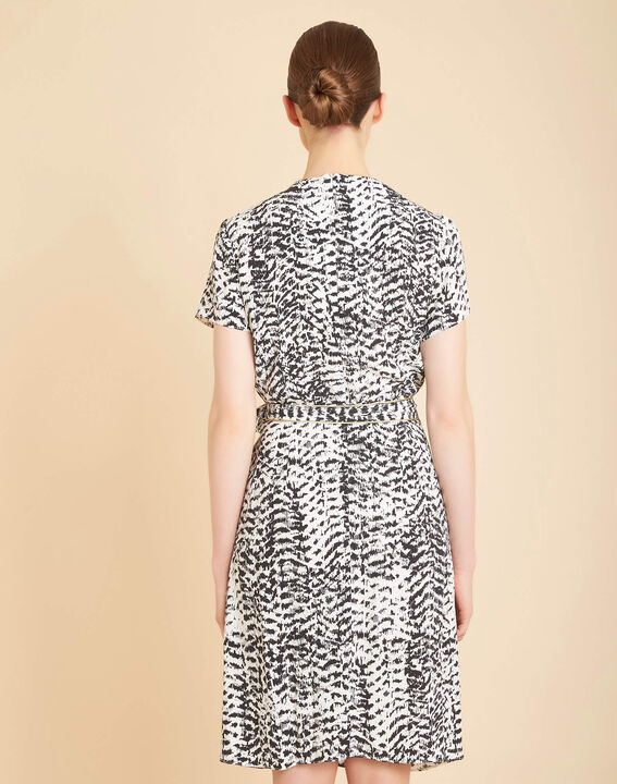 Panthere black and white printed dress (4) - 1-2-3