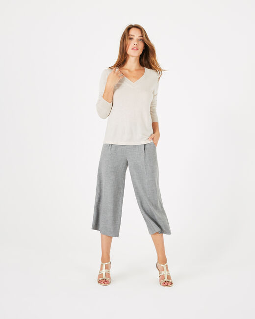 Pépite nude V-neck sweater (1) - 1-2-3
