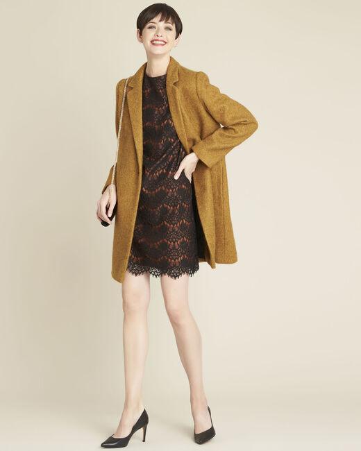 Robe noire en dentelle fond orange (2) - 1-2-3