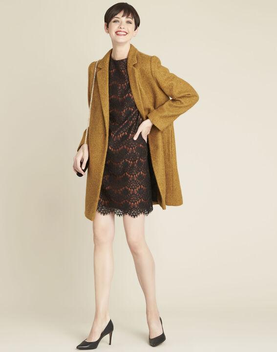 Zwarte kanten jurk met oranje basis (3) - 37653