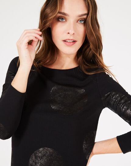 Tee-shirt noir à pois Bonnie (2) - 1-2-3