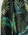 Adélie green floral printed square scarf in silk (1) - 1-2-3