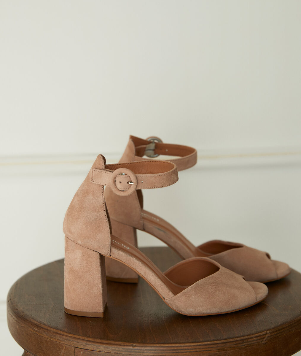 Sandales à talons en cuir nude Jade PhotoZ | 1-2-3