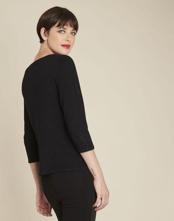 Brio black rhinestone pullover (4) - 1-2-3