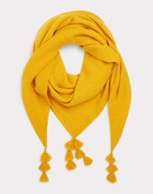 Foulard à pompon jaune edy soleil.