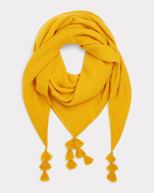 Foulard à pompon jaune Edy (1) - 1-2-3