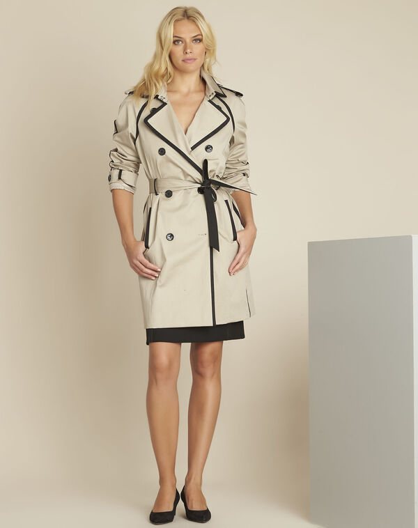 Eloise camel trenchcoat with contrasting bias (2) - 1-2-3