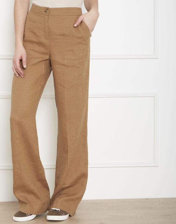 Pantalon havane large en lin Gobi PhotoZ | 1-2-3