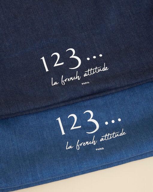 Tote bag bleu effet denim Diva (2) - 1-2-3