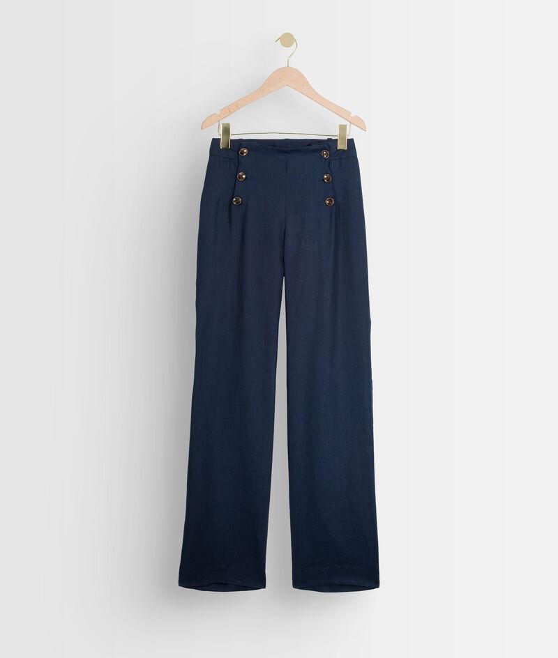 Pantalon à ponts en lin certifié Iber PhotoZ   1-2-3