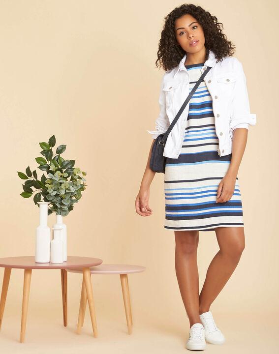 Robe bleue à rayures à lin Berangere (2) - 1-2-3