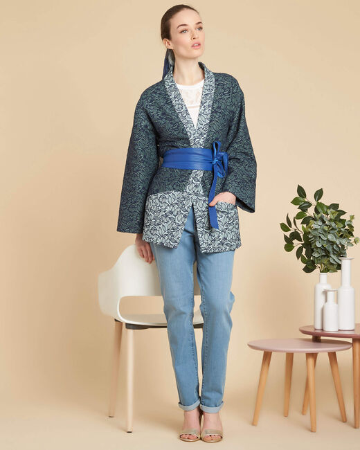 Cassa textured jacket with print (2) - 1-2-3