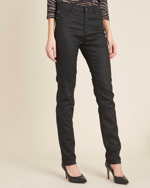 Jean noir slim enduit taille normale Valley (2) - 1-2-3