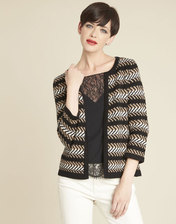 Bellini black striped cardigan PhotoZ | 1-2-3