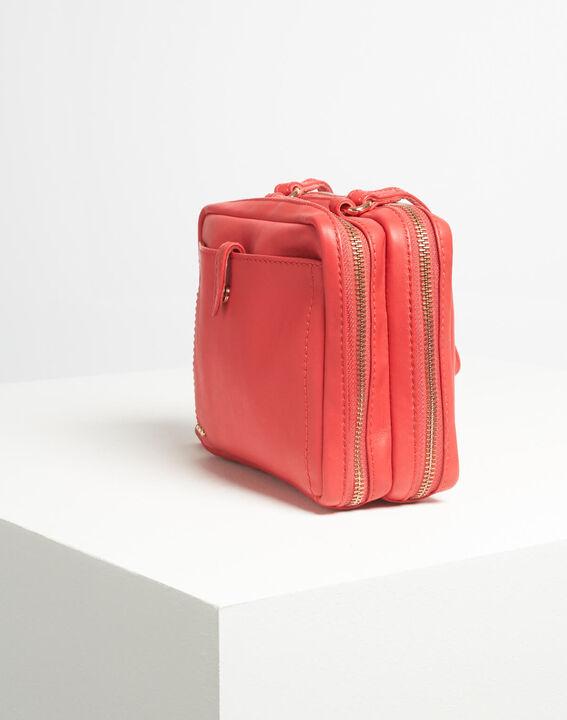 Dolly red shoulder bag with golden zip (4) - 1-2-3